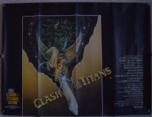 Clash of the Titans, UK Quad Poster, Harry Hamlin, Laurence Olivier '81 VG+++